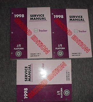 1998 Chevrolet Chevy Geo Tracker Service Manual Set Oem (3 volume set)