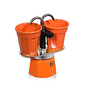 Amazon.com: Bialetti: Set 2 tazas Mini Express Color Naranja ...