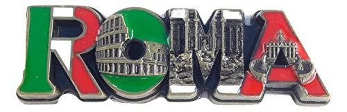 New green Fridge metal Magnet flag Italy Rome Vatican/Colosseum/trevi ()