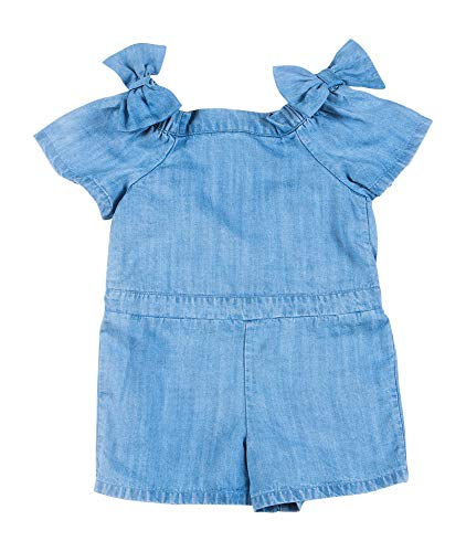 (Kinderkind Girls Chambray Bow TIE Romper)