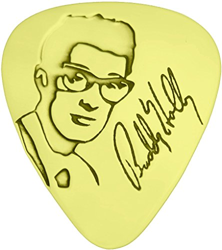 Buddy Holly - Solid Brass Guitar Pick
