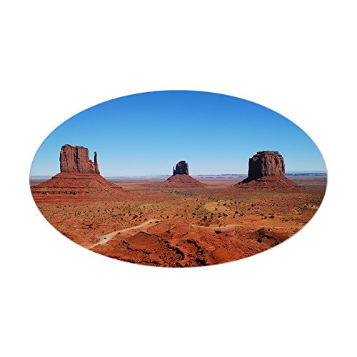 (CafePress - Monument Valley Entrance Oval Sticker - Oval Bumper Sticker, Euro Oval Car Decal)