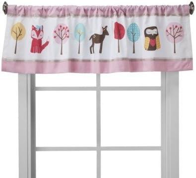 Circo Woodland Friends Window Valance – 15×54 – Home Decor – Curtain – Plain and Washable – 100 Cotton