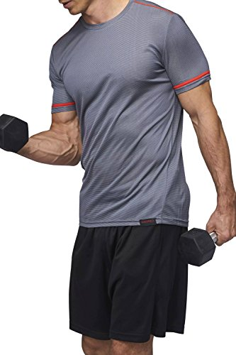 Sundried Men's Training T-Shirt Workout Fitness Clothes Grey