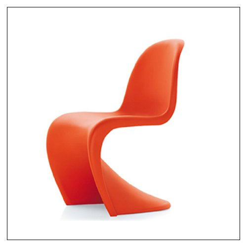 (Vitra Panton Chair, color = Classic Red)