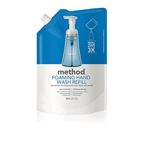 Method Foaming Hand Wash Refill, Sea Minerals, 28 oz Pouch, 6/Carton