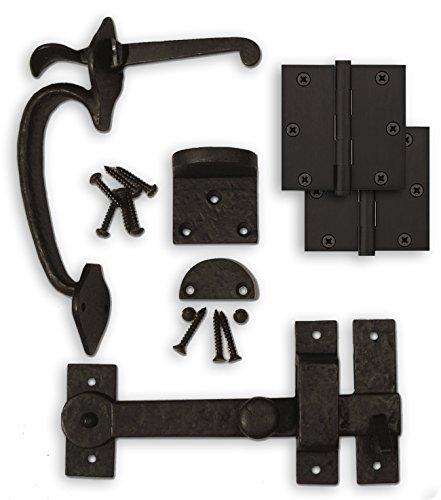Coastal Bronze - Complete Gate Kit - Hinges / Thumb Latch / Drop Bar Set by Coastal Bronze