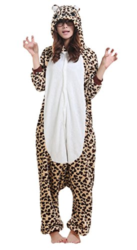 Simple Good Halloween Costumes (iNewbetter Halloween Costumes Sleepsuit Costume Cosplay Kigurumi Onesie Pajamas Leopard Bear S)