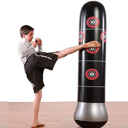 JanTeelGO Fitness Sac de Frappe Autonome de Boxe Cible Sac Gonflable de Poin/çonnage Tour Sac Colonne de 1.6m Punching Ball sur Pied Exercices de Boxing MMA Parfait pour Enfants et Adultes