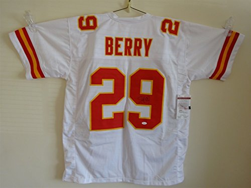 ERIC BERRY SIGNED AUTO KANSAS CITY CHIEFS WHITE JERSEY JSA AUTOGRAPHED