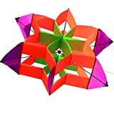 Hengda Kite-New Version 42 Inch So Beautiful 3D Lotus Flower Kite For Kids And Adults Easy To Carry With Flying Line