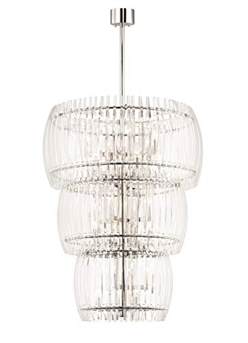 - Hudson Valley Lighting 5050-PN Freeze Pendant, 24-Light, Polished Nickel