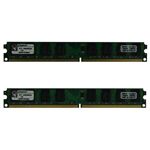 Kingston 4GB Kit (2x2GB) KTD-DM8400B/2G DDR2-667MHz DDR2 SDRAM PC2-5300 (DDR2-667) Low Profile 240 Pin 1.8V Desktop RAM