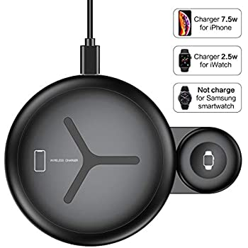 Amazon.com: BEACOO 2 in 1 Phone Wireless Charger Stand ...