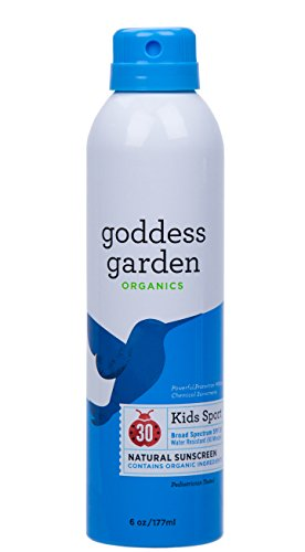 Goddess Garden Organics Kids Sport SPF 30 Natural Sunscreen, Continuous Spray, 6 Ounce