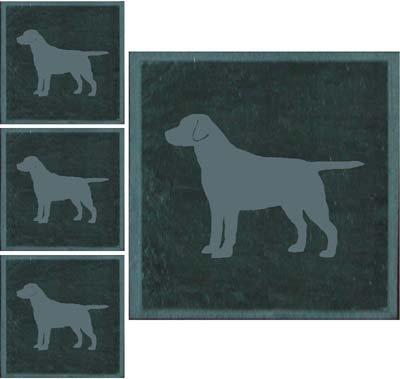 allsignsco Labrador Retriever Slate Coaster -