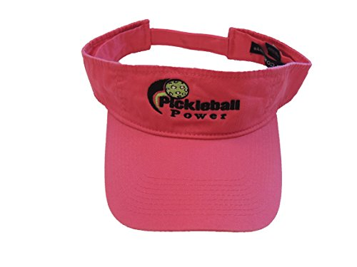 (Pickleball Fashion Visor - Classic Sports Headwear - 100% Washed Cotton Twill-
