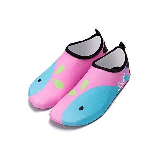 ballena playa secundario exterior de de natación principal zapatillas Natación secado de 1929 rosa suave y Zapatos rápido piel zapatos inferior transpirable Lucdespo buceo zapatos qYfwIBv
