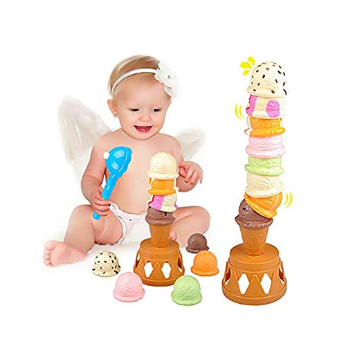 Balancing Tower Game, Ice Cream Tower Balancing Game Stacking Game Ice Cream Parlor for Kids, Birthday Present