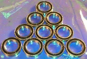 Lot 10 Radial Ball Bearings 6802-2RS 15x24x5 Sealed VXB
