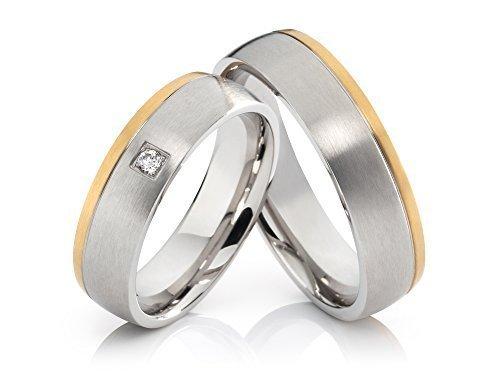 2 anillos de compromiso anillos Póster con alianzas de boda anillos de acero inoxidable con grabado