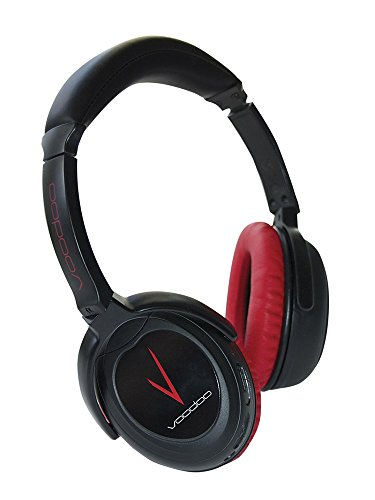 Solitude Voodoo Active Noise Cancelling Headphones, Hear music/audio Clearer, Noise Reduction for travel, school, work, Over-Ear, Volume Control, Noise Reduction, Red Black earphone, dual drivers