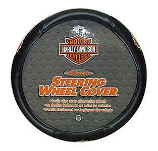 [PlastiColor 006340 Harley-Davidson Steering Wheel Cover] (Chrome Harley Wheels)