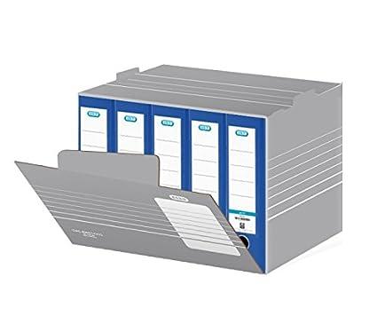 Elba 83426 - Caja de almacenaje para hasta 8 archivadores (10 unidades), color