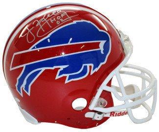 Buffalo Bills Autographed Helmets (Jim Kelly Autographed Signed Buffalo Bills Full Size Replica Helmet - HOF 02 - JSA)