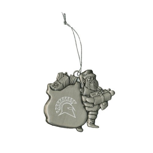 St Thomas Aquinas Pewter Santa Ornament 'Official Logo Engraved' by CollegeFanGear