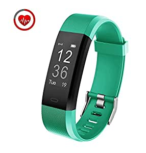 Muzili Fitness Tracker YG3 Plus Activity Tracker with Heart Rate Monitor Calorie Counter Step Counter Sleep Monitor Fitness Watch IP67 Waterproof Smart Wristband for Android and IOS (Green)