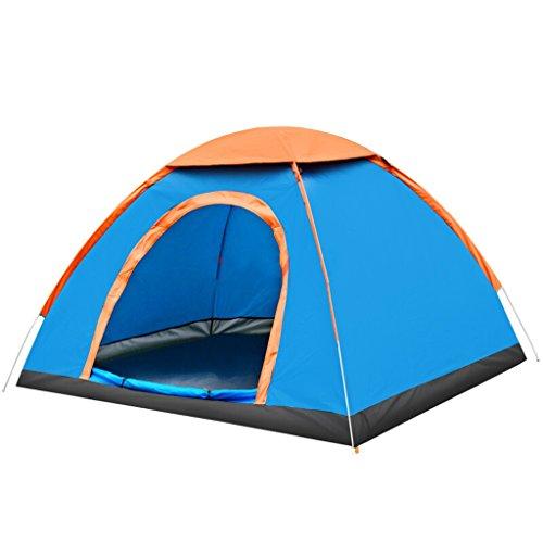 句と組む識別するアウトドアオープンハンド投げテントアウトドアキャンプキャンプテント2人緑 のテント (色 : 青)