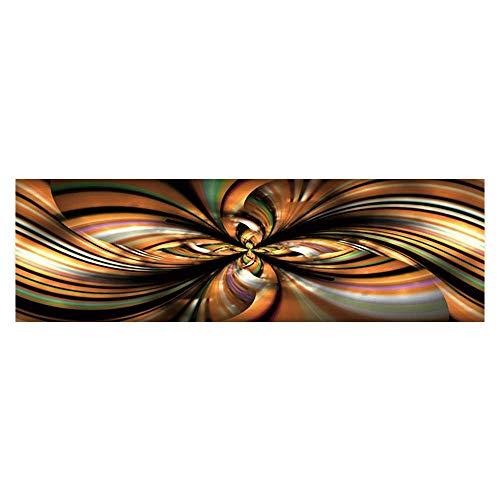 (Dragonhome Decorative Aquarium Background Flower with Textured Petals on Black Background Decal Sticker Home Decor Art L29.5 x H17.7)