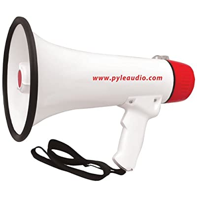PYLE PRO PMP48IR 40-Watt Professional Megaphone/Bullhorn with Handheld Microphone/Siren, Rechargeable Battery & Auxiliary Jack electronic consumer