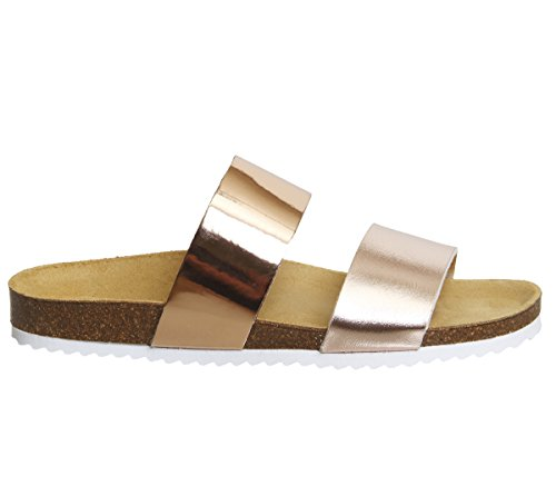Sandalias Oslo Mix Office Gold Rose para 2 con Abierta Punta Mujer ERxq7wx