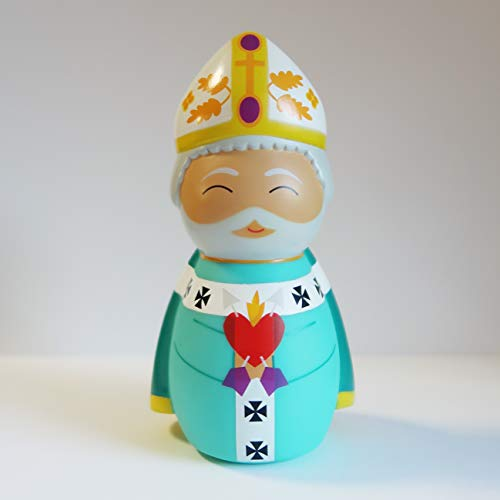 Shining Light Dolls St. Augustine of Hippo Collectible Vinyl Figure with Story & Prayer Card