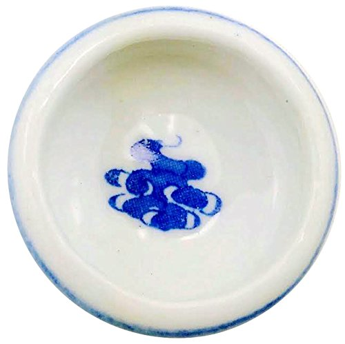 - Calligraphy Ink Ceramic Container with Asian Style Dragon in Blue
