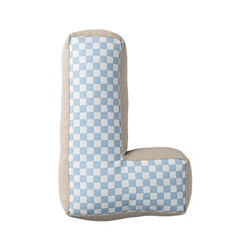 Bloomingville Sky Blue Patterned Cotton L Pillow [並行輸入品] B07R6YQGN6