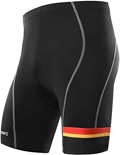 NOOYME Men's Cycling Shorts with 3D Padded Jet Black with Classic Design Bike Shorts