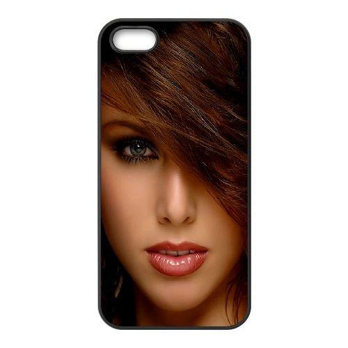 Brunette Eyes Smile 81646 coque iPhone 5 5S cellulaire cas coque de téléphone cas téléphone cellulaire noir couvercle EOKXLLNCD22509