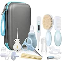Lictin Baby Grooming Kit Newborn Care - 15PCS Baby Health Care Set Portable Baby Thermometer Kit, Safety Cutter Baby…