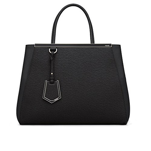 Fendi Women Handbag Regular 2Jours Black Elite Calfskin Fendi Black Bag