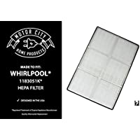 Whirlpool 1183051K AP250 AP150 Compatible HEPA Air Purifier Filter, Motor City Home Products Brand Replacement (1)