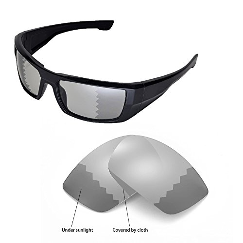 Price comparison product image Walleva Replacement Lenses for Spy Optic DIRK Sunglasses - Multiple Options Available(Transition / Photochromic - Polarized)