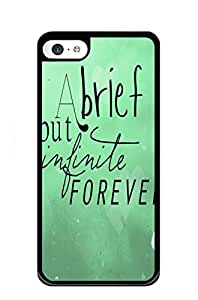 Mldierom fashion picture hard shell black case for iphone 6 And in that moment I swear we were infinite