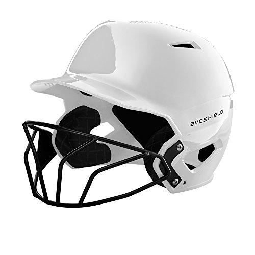 EvoShield XVT Batting Helmet with Facemask, White - S-M