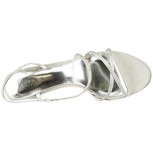 LAUREN by Ralph Lauren - Sandalias de vestir para mujer plata