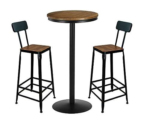 Vilavita 3 Piece Bar Table Set 41.5