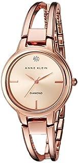 Anne Klein Women's AK/2626RGRG Diamond-Accented Dial Rose Gold-Tone Open Bangle Watch (B01H5CQFPO) | Amazon Products
