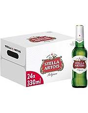 Stella Artois Beer Bottles, 330 ml (Pack of 24)
